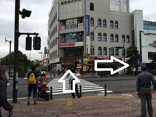 駅前の信号